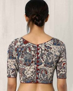 Kalamkari Blouse Designs  For more designs visit…