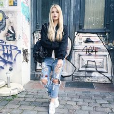 Get this look: http://lb.nu/look/8245769  More looks by Franziska Chappo: http://lb.nu/user/4100626-Franziska-C  Items in this look:  Marcell Von Berlin Bomber, Primark Backpack, Sassyclassy Boyfriend Jeans, Adidas Sneakers   #berlin #casual #street #throwback #blogger #fashion #mode #fashionblog #fashionblogger