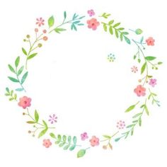 Watercolor Flower Wreath, Floral Watercolor, Watercolour, Bird Houses Painted, Wreath Drawing, Floral Logo, Quilling Designs, Illustration, Cute Wallpaper Backgrounds