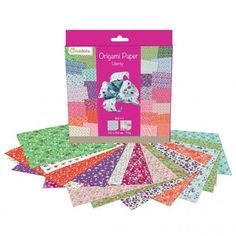 Papier origami 60 feuilles liberty AVENUE MANDARINE : Chez Rentreediscount Loisirs créatifs Picnic Blanket, Outdoor Blanket, Stickers, Origami Paper, Creative Art, Leaves, Creative Crafts, Characters, Picnic Quilt