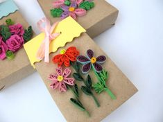 Brown paper bags, kraftpaper gift bags, gift packaging for jewerly, quilling gifts, set of 3 pieces