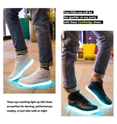 Comfortgo Kid High Top Classic LED Light Up Shoes Girl Boy Fashion Sneakers  (Toddler Little Kid Big Kid) e6e423bbdc13