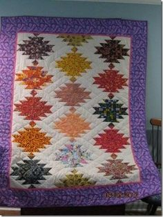 Lanterns variation of Scrappy Mountains from Bonnie Hunter's Quiltville