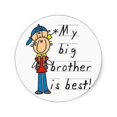Little Brother T-shirts and Gifts Stickers