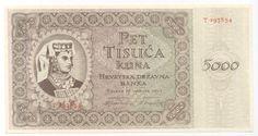 CROATIA * 5000 Kuna 15/7/1943 UNC *P14a* NDH - WWII - USTASHA .  http://www.ebay.com/itm/CROATIA-5000-Kuna-15-7-1943-UNC-P14a-NDH-WWII-USTASHA-/160803572918?pt=Paper_Money=item2570a3ccb6