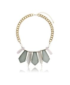 Gina Tricot – Stone drop necklace