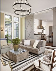 Love the doors and kitchen beyond