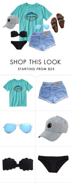 """""""Thank you for 900 followers!!"""" by emily-ta ❤ liked on Polyvore featuring Patagonia, Levi's, Ray-Ban, Southern Proper, J.Crew, Hurley and Birkenstock"""