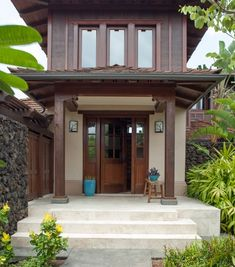 15 Ideas House Architecture Styles Design Dream Homes For 2019 Thai House, Asian House, Tropical House Design, Tropical Houses, Bungalow, House Architecture Styles, Interior Architecture, Modern Exterior, Exterior Design