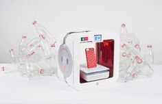 ekocycle cube by will.i.am + coca-cola 3D prints using recycled plastic bottles