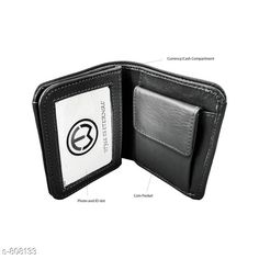 Wallets Stylish Leather Men's Wallet  *Material* PU Leather  *Size * Free Size  *Cash Compartments* 2    *Card Slots * 3  *Coin Pouch* 1  *Description* It Has 1 Piece Of Men's Wallet  *Pattern* Solid  *Sizes Available* Free Size *   Catalog Rating: ★3.9 (125)  Catalog Name: Men's Attractive Leather Wallets Vol 5 CatalogID_92856 C65-SC1221 Code: 142-808133-