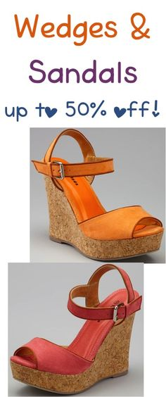 Wedges and Sandals for Women ~ up to 50% off! {11.99 - 15.99} #wedges #sandals