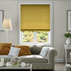 Harrow Mimosa Gold Roman Blind