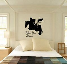 Horse Quote Decal,Horse Decal,Horse Wall Decal,Quote Decal,Eventing Decal,Teen  Room,Vinyl Wall Decor 29 X 29 Inches, Wall Decal Wall Sticker