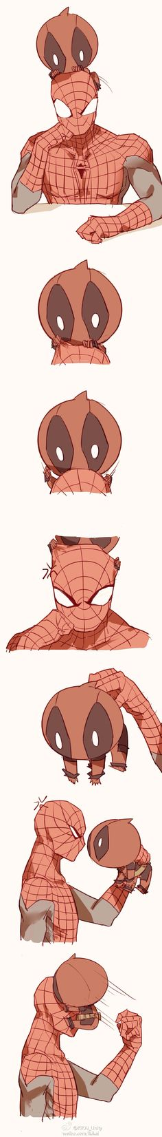 spideypool147 by LKiKAi.deviantart.com on @deviantART.... oh my god adorable