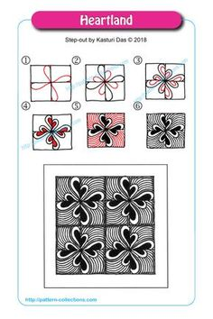 Drawing heart step by step zentangle patterns 62 ideas Doodles Zentangles, Tangle Doodle, Zentangle Drawings, Easy Zentangle Patterns, Zen Doodle Patterns, Doodle Art Designs, Easy Drawing Patterns, Doodle Borders, Pattern Drawing