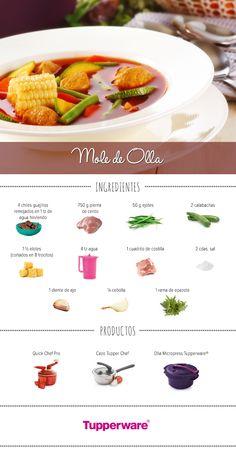 Un platilllo típico de la cocina mexicana que no puedes dejar de probar. #Tupperware #Recetas #MoleDeOlla