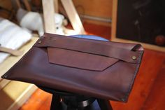 Laptop Case/ Document Folder, handcrafted leather case,  bag Briefcase. $85.00, via Etsy.