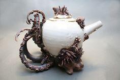 Bottom Feeder tea set by Mary O'Malley