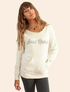 Be Love Apparel - 'Soul Rebel'  Eco Fleece Pullover - Moon, $60.00 (http://www.beloveapparel.com/soul-rebel-eco-fleece-pullover-moon/)