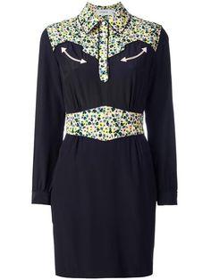 Shop Coach floral print detailing dress.