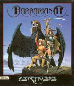 Not to be confused with Barbarian II: The Dungeon of Drax, which is a different game developed by Palace Software.  Barbarian II is a 1991 fantasy action-adventure game by British publisher Psygnosis for the Atari ST and Amiga. A sequel to 1987's Barbarian, the player takes on the role of Hegor on a quest to destroy his resilient and nefarious brother, the sorcerer Necron.  The game takes place from a side-on view, and Hegor moves between areas across the six regions, including forests… Classic Video Games, Retro Video Games, Video Game Art, Retro Games, Cover Art, History Of Video Games, Computer Video Games, Pc Engine, Old Games