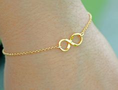 NEVER ENDING STORY 3  Gold Infinity by Smallpackagesjewelry, $24.00