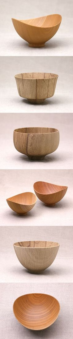 Nice shapes but too fine cut on the outside! Love the shape of this wooden bowls Simply elegant bowls. Lathe Projects, Wood Turning Projects, Woodworking Projects, Woodworking Jigs, Wooden Art, Wooden Crafts, Wood Lathe, Router Wood, Cnc Router