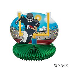 Football Field Tablecloth Sale | Football Players and Goal Centerpiece