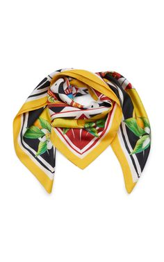 Multi-Print Silk-Twill Scarf by DOLCE   GABBANA Now Available on Moda  Operandi ba465d6acfd