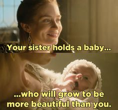 "Because Ravenna's sister, AKA Freya, had a baby who's going to grow up to be waaay prettier than Ravenna, AKA Snow White. | The New Trailer For ""The Huntsman"" Is Glorious"