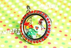 Where else could your elf on a shelf end up?  Inside cute, customizable holiday jewelry!  Perfect to gift or for yourself!  Design your own charms!  Custom Christmas Holiday Floating Charm Locket by RepliKitty #floatingcharms #locketideas #elfonashelf #elf #elves