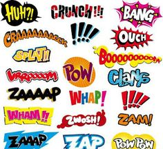 onomatopeoia- print 1 for each student & have them cut out & paste onto their writing throughout the year