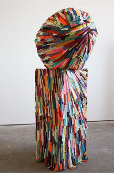 """SAATCHI ONLINE ARTIST: ANDREA MYERS; MIXED MEDIA, 2012, SCULPTURE """"CLIFFHANGER"""""""