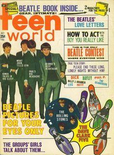 Teen World Magazine, October 1964 Beatles Poster, The Beatles, Magazine Stand, Mad Magazine, Magazine Rack, Teen World, Tiger Beat, Rock N Roll Music, The Monkees