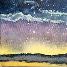 Mini Painting, Night Sky Watercolor, Galaxy Artwork, Constellation Painting, Northern Lights Art by ElissaSueWatercolors on Etsy