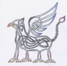 celtic griffin. This would make a great tattoo.