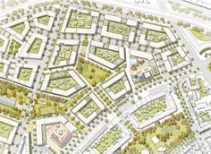 1st Prize: Site Map M 1: 500, © André Poitiers Architect City Map RIBA