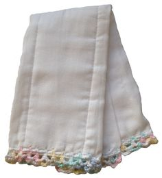 These burp rags are the most absorbent and functional burp rag to exist. Made from cloth diapers, these burp rags are soft enough for baby's face and a perfect staple for any diaper bag.