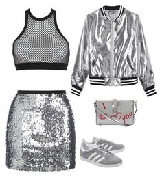 """""""#14"""" by cecilie-monica-nrskov-pedersen on Polyvore featuring Topshop, Dsquared2, Sans Souci, adidas Originals and Dolce&Gabbana"""