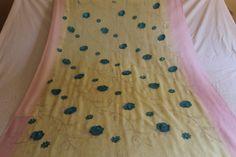 chiffon saree indian wear casual saree sequin by VintageBaazarr