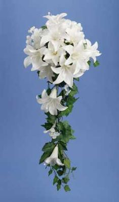 Ivory Lily Hydrangea with Pearls and Ivy Cascading Bouquet