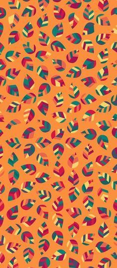 Russfussuk Geo Leaf Geometric Pattern #pattern #design #patternprint #leaves #autumn #fall #leaf