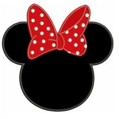 Looks like Minnie Mouse Ears Applique Machine Embroidery Digitized Pattern- Instant Download - 4x4 ,5x7,6x10 -hoops