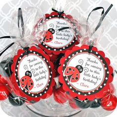 Ladybug, Favor Tags, personalized by ConfettiFete on Etsy https://www.etsy.com/transaction/1013737579