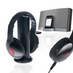 AURICULARES INALÁMBRICOS 5 EN 1 FGNS CON MICRÓFONO Y ESCUCHA REMOTA TV RADIO MP3