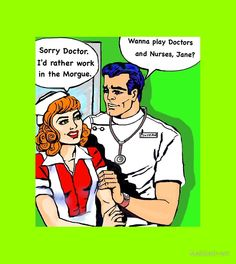 Pop art doctors and nurses, hospital romance
