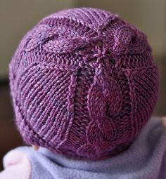 Free Knitting Pattern for Otis Baby Hat - This baby hat features 3 cable panels and was originally sized for newborns, though other Ravelrers have adapted the pattern for other sizes. Designedby Joy Boath