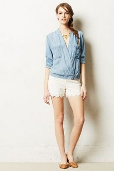 Scalloped Lace Shorts #anthrofav #greigedesign #spring