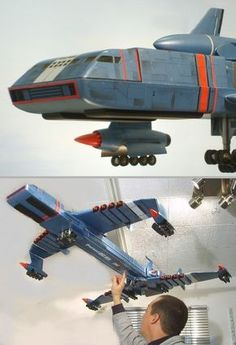 Recreated Zero-X, Mars exploration craft, from Thunderbirds are go! Classic Sci Fi, Classic Toys, Timeless Series, Sience Fiction, Thunderbirds Are Go, Fritz Lang, Sci Fi Models, Space Toys, Retro Futurism